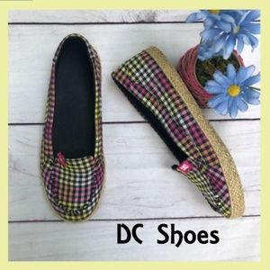 DC Shoes Plaid/Checkered MultiColor Slip-On